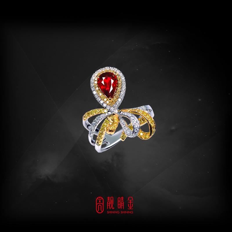 GRS1.10克拉無燒紅寶戒指(珍藏品,請來電洽詢)