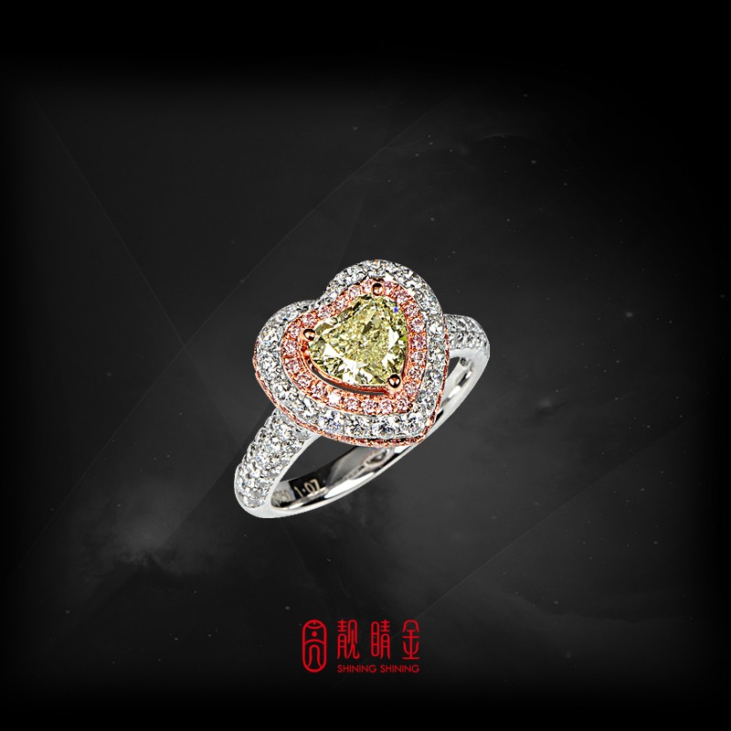 GIA1.07克拉綠彩鑽戒指(珍藏品,請來電洽詢)