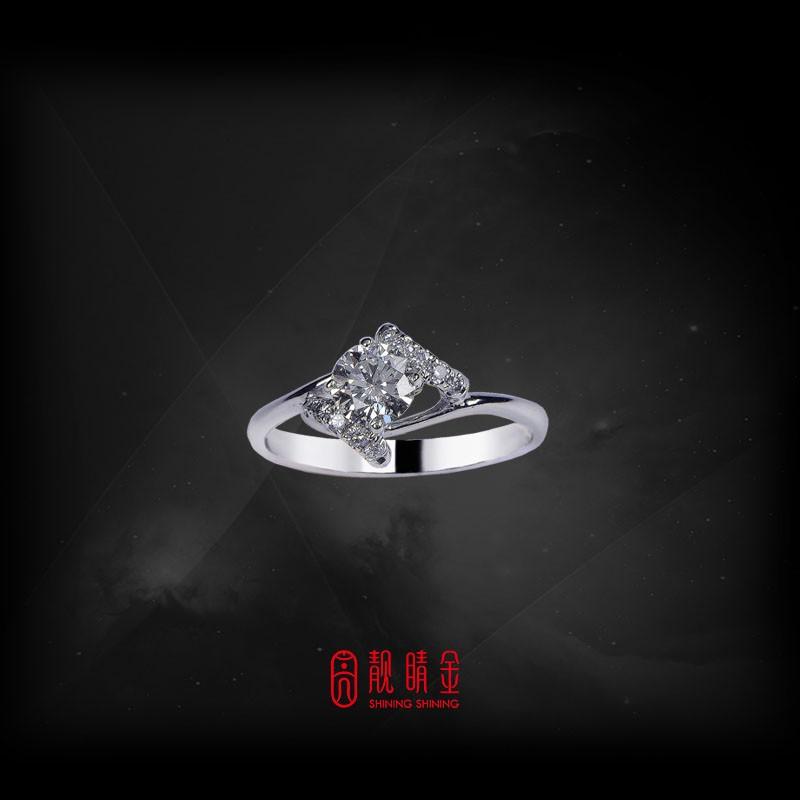 GIA50分-52分F/VS1鑽石女戒