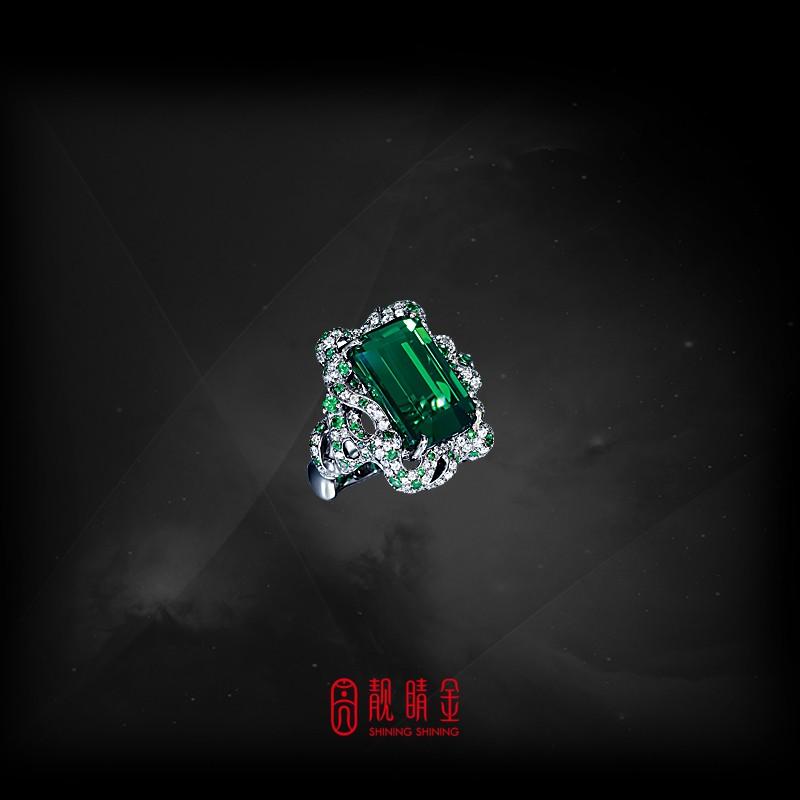 20.05克拉綠碧璽戒指(珍藏品,請來電洽詢)