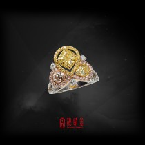 GIA1.27克拉黃彩鑽戒指(已承蒙珍藏)