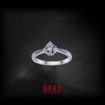 GIA30分-31分D/VVS1鑽石女戒