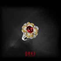 GRS1.16克拉無燒紅寶戒指(珍藏品,請來電洽詢)