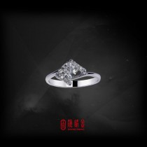 GIA50分-52分F/VS1鑽石女戒(GIA鑽石以時價計算,請來電洽詢)