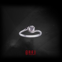 GIA30分-33分E/VVS1鑽石女戒