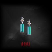 9.73克拉台灣藍寶耳環(珍藏品,請來電洽詢)
