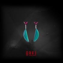 13.93克拉台灣藍寶耳環(珍藏品,請來電洽詢)