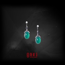 6.81克拉台灣藍寶耳環